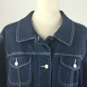 Chico's Jackets & Coats - Chicos Jean Jacket SZ 2 Button Front Denim JK13